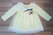 Áo váy cotton ren vàng