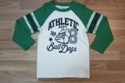 Áo cotton hình ATHETIC Bull Dogs dài tay hiệu Place
