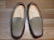 Giày Moka da sần màu xám dành cho bé trai
