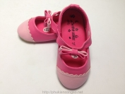 Giầy LuBoshoses dây nơ màu hồng dành cho bé gái