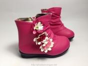 Giầy cao cổ màu hồng có hoa