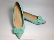 Giày bệt nữ Mango mau xanh