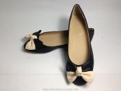 Giày bệt nữ màu đen có nơ