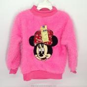 Áo len hồng có hình chuột mickey