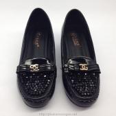 Giày cao gót JING PINXIE màu đen có gót vuông