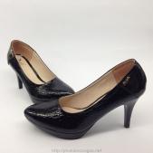 Giày cao gót Taiwan màu đen có gót nhọn dành cho nữ