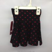 Váy dành cho bé gái màu đen chấm hình trái tim