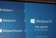 Windows 10: Miễn phí nâng cấp trong năm đầu tiên cho các máy chạy: Win 7, Win 8.1, WP 8.1
