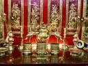 Bộ đồ thờ  đồng vàng (100% đồng mới)