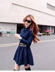 Đầm jean cổ sơ mi - D87 - 160 (ĐÃ CÓ HÀNG)