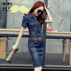 Đầm jean tay ngắn - D93 - 170 (ĐÃ CÓ HÀNG)