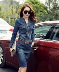 Đầm jean tay dài - D94 - 180 ( Đã có hàng )