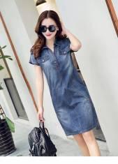 Đầm jean suông phối túi - D118 - 160 (ĐÃ CÓ HÀNG)