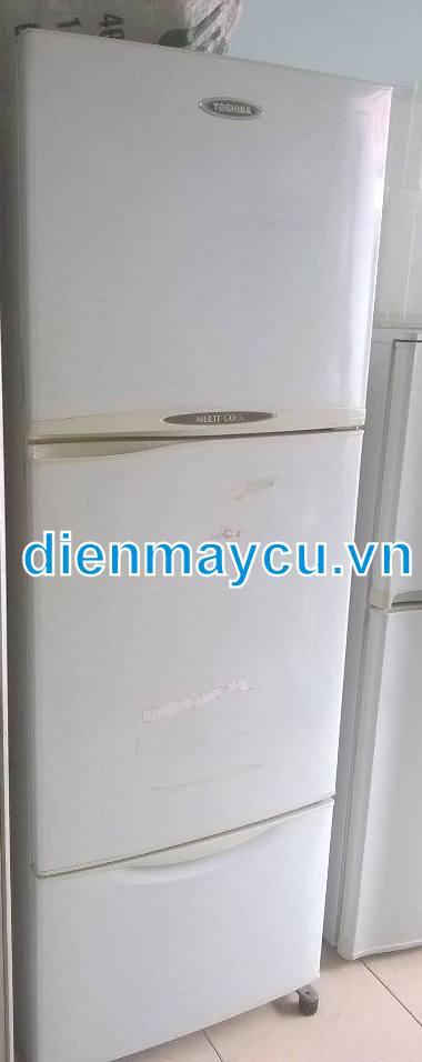 Tủ lạnh cũ Toshiba 3 cửa 350 lít