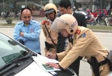 Không có giấy tờ gốc, người mua ôtô trả góp sẽ bị cảnh sát xử phạt.