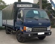 Hyundai HD72 mui bạt màu xanh