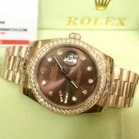 Đồng hồ Rolex R7616 diamond rose gold sành điệu cho quý ông