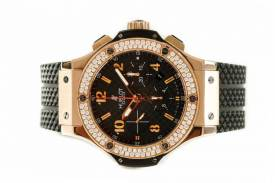 ĐỒNG HỒ HUBLOT BIG BANG CHRONOGRAPH 44MM ROSE GOLD DIAMOND Automatic