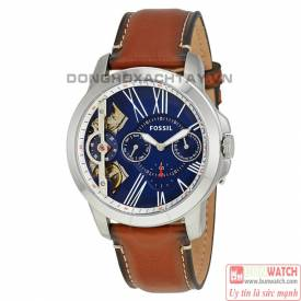 Men's Fossil Grant Brown Leather Strap Automatic Watch ME1161