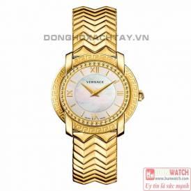 VERSACE VAM040016 DV-25 ROUND LADY IP GOLD WATCH
