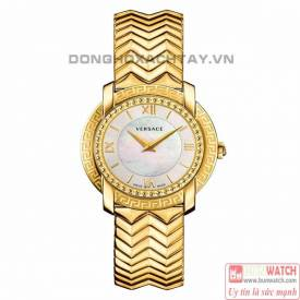 VERSACE VAM040016 DV-25 ROUND LADY IP GOLD WATCH