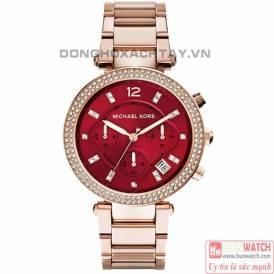 Michael Kors Women's Red Dial Analogue Watch MK6106