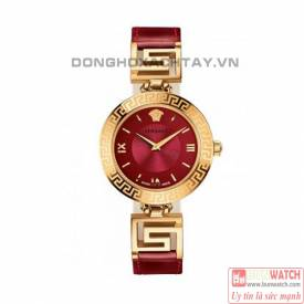 Versace V-signature analog display swiss quartz red watch VLA030014 siêu sang