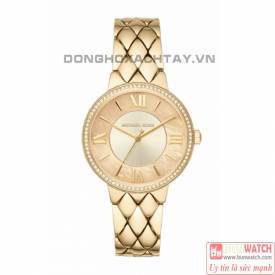 MICHAEL KORS COURTNEY PAVÉ GOLD-TONE WATCH MK3704 siêu đẹp