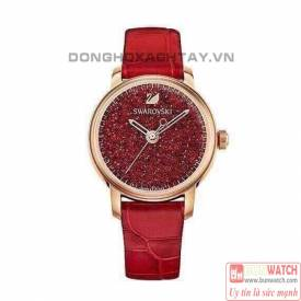 SWAROVSKI CRYSTALLINE HOURS, LEATHER STRAP, RED TONE 5295380