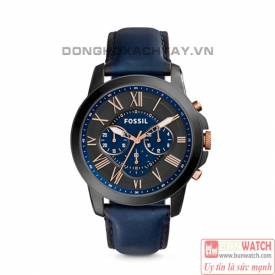 Fossil Grant Chronograph Black and Blue Dial Men's FS5061