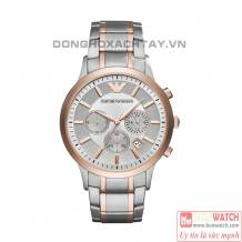 Emporio Armani Silver and Rose Gold AR11077