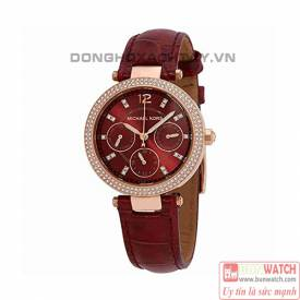 MICHAEL KORS MINI PARKER RED DIAL LAIES WATCH MK6451