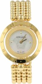 VERSACE EON MOTHER OF PEARL GOLD WATCH authentic