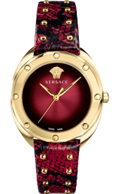 VERSACE VEBM00918 SHADOV RED LEATHER authentic