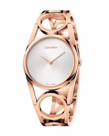 CALVIN KLEIN K5U2M646 Round Silver Dial Ladies Watch authentic