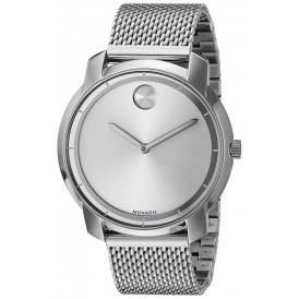 Movado Bold Silver Dial Stainless Steel Mesh 3600260 - 3600241 authentic