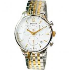 Tissot Tradition Silver Dial Two-Tone T063.639.22.037.00 authentic