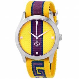 GUCCI G-TIMELESS YELLOW UNISEX WATCH YA1264069 Authentic