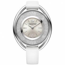 Swarovski Crystalline Oval White Watch 5158548 Authentic
