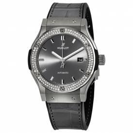 Hublot Classic Fusion Titanium Bezel Diamond Grey Dial 542.NX.7071.LR.1104 Replica