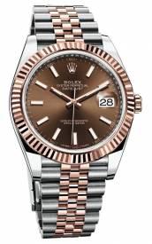 Rolex Datejust Chocolate Dial Everose Gold 126331-002 Replica