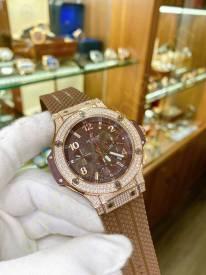 Hublot BigBang Bezel Diamond Chocolate Dial  301.PC.1007.RX.114 Replica