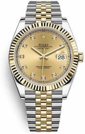 Rolex Datejust 41 Two Tone Oystersteel Jubilee Bracelet 126333 Replica
