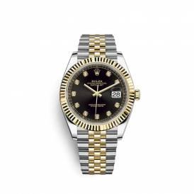 Rolex Datejust Black Diamond Dial Stee Yellow Gold Jubilee 12633BKDJ Replica