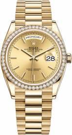 Rolex Day-Date Yellow Gold Midsize 128348RBR-001 Replica