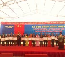 Lễ đón bằng công nhận xã Tân Hương H.Phổ Yên