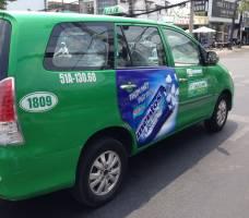 Thi công quảng cáo taxi - SG