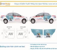 Quảng cáo tràn cánh - túi treo xe taxi