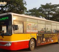 Quảng cáo trên xe Bus Hà Nội khách hàng MOLUX