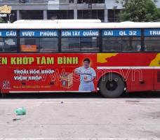 Quảng cáo Bus Hà Tây khách hàng Tâm Bình